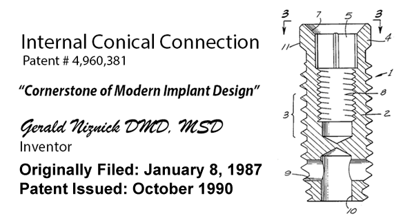 internal conical connection patent
