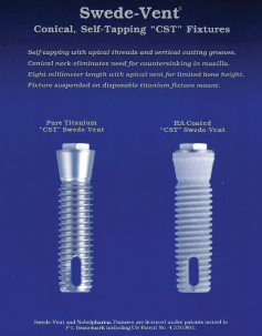 Swede Vent Conical, Self-tapping CST Fixtures