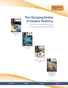 Implant Direct Sybron Changing Reality of Implant Dentistry
