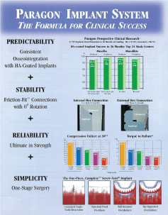 Paragon Implant System The Formula For Clinical Success